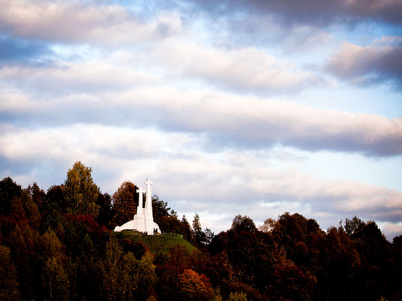 Le tre croci bianche di Vilnius