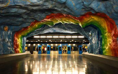 Alla scoperta dell'arte nella Metropolitana di Stoccolma, la Stockholms tunnelbana