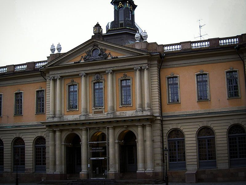 Copertina Museo Nobel Stoccolma