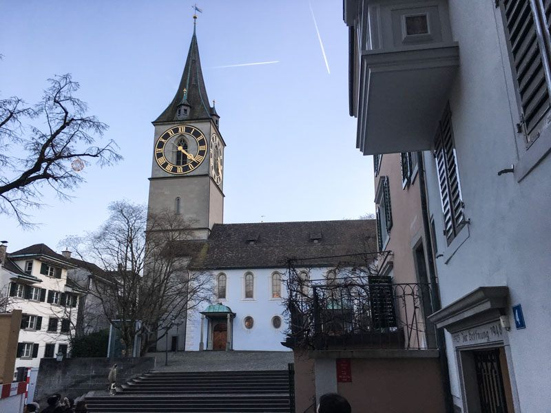 Cosa vedere a Zurigo – La Chiesa di St. Peter