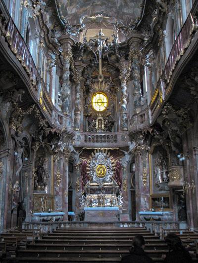 Monaco - Asamkirche, la chiesa dei fratelli Asam