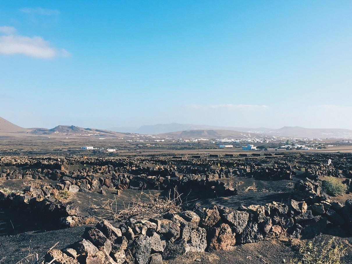 La regione della Geria di Lanzarote
