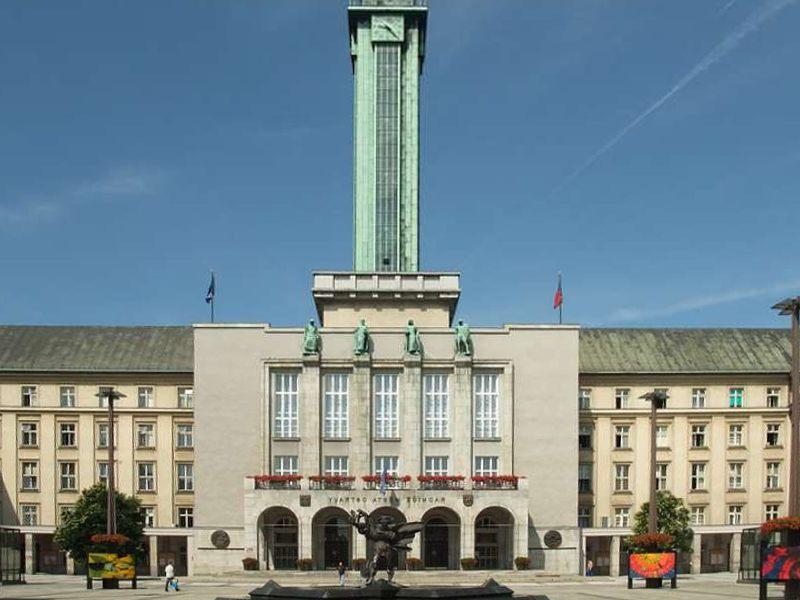 Il Municipio di Ostrava e la sua torre