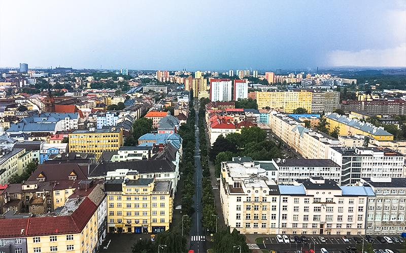 Ostrava-Vista-dalla-torre-del-Municipio