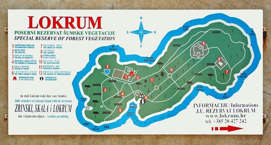 Isola-Lokrum-Mappa