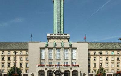 Ostrava - Il Municipio e la sua torre