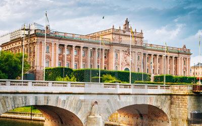 Stoccolma-Il-Parlamento-di-Stoccolma-Riksdagshuset