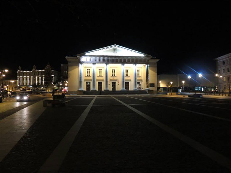 Vilnius - Piazza del Municipio